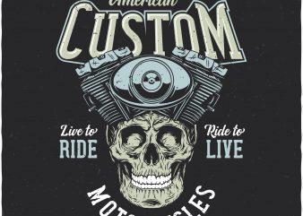 American custom. Vector T-Shirt Design