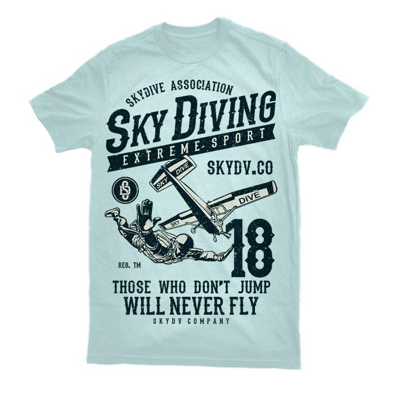 Sky Diving Vector t-shirt design vector t shirt design