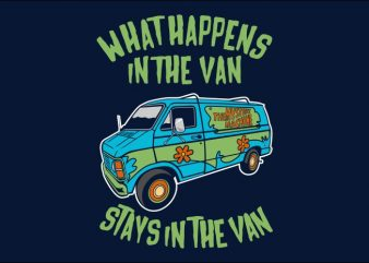 Stays In The Van t shirt template vector