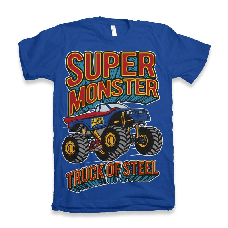 Super Monster vector shirt designs