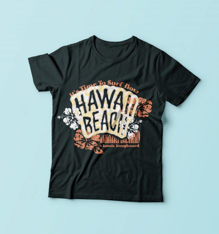 Hawai Beach Surfer t shirt design png