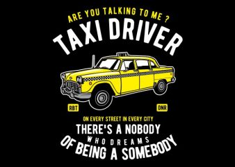 Taxi Driver graphic t-shirt design
