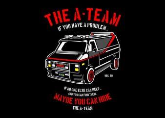The A Team tshirt design vector