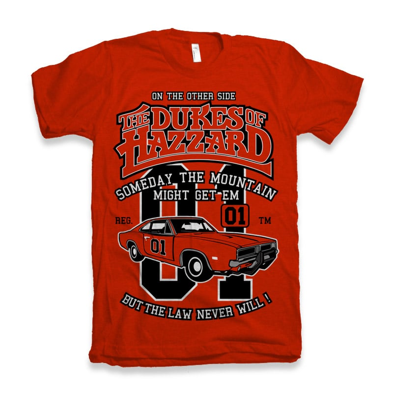 The Dukes Of Hazzard tshirt design for sale