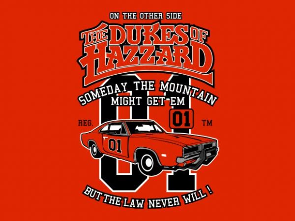The Dukes Of Hazzard print ready vector t shirt design