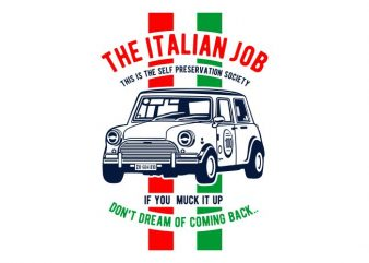 The Italian Job t shirt designs for sale