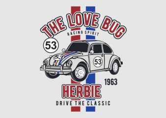 The Love Bug commercial use t-shirt design
