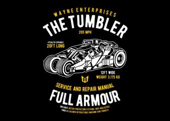 The Tumbler vector t shirt design artwork