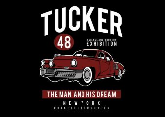 Tucker 48 commercial use t-shirt design