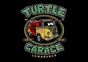 Turtle Garage t shirt designs for sale