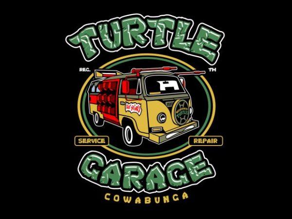 Turtle Garage t shirt design for purchase