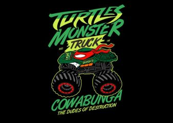 Turtles Monster t shirt designs for sale