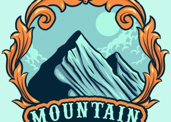 mountain buy t shirt design artwork