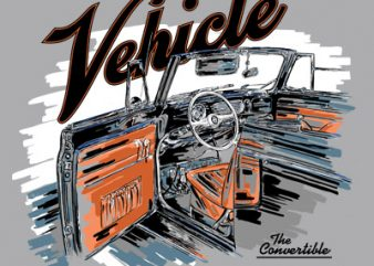 VEHICLE t shirt design for purchase