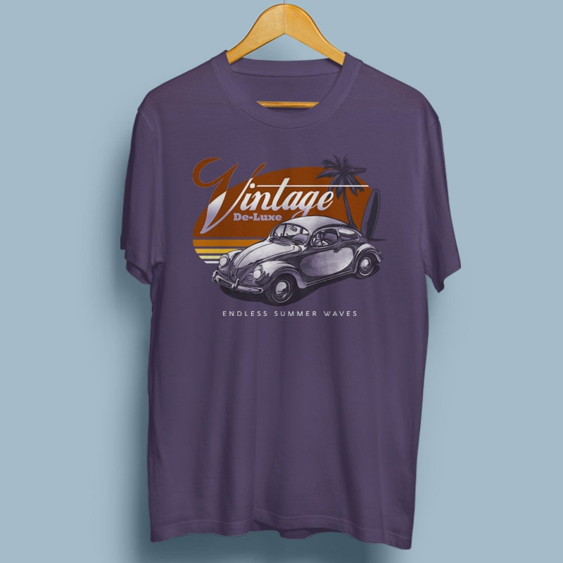 VINTAGE DELUXE commercial use t shirt designs