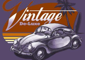 VINTAGE DELUXE graphic t-shirt design