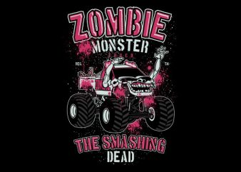 Zombie Monster Truck t shirt graphic design
