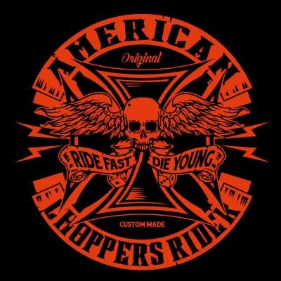 AMERICAN CHOPPER vector t-shirt design