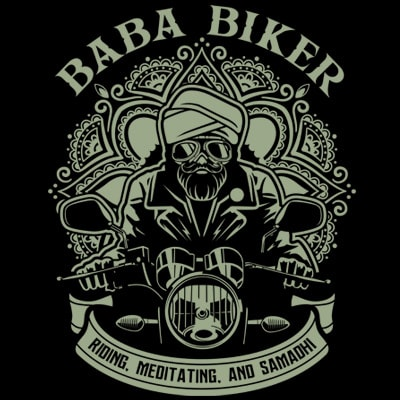 BABA BIKER vector t-shirt design for commercial use