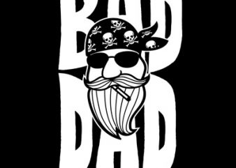 BAD DAD t shirt template