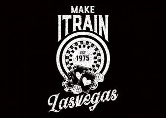 Make It Rain Casino Vector T-Shirt Design