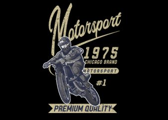 Motorsport vector t-shirt design