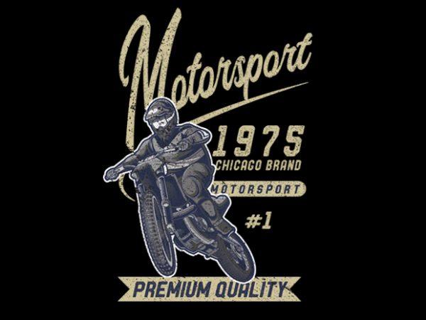 Motorsport vector t-shirt design
