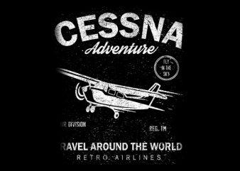 Fly Around The World Vector T-Shirt Design