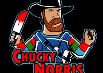 CHUCKY NORRIS tshirt design for sale