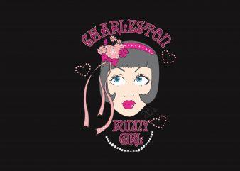Funny Girl t shirt graphic design