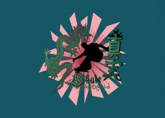 Dragon Skate vector t-shirt design