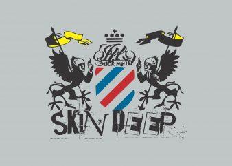 Skin Deep t shirt template vector