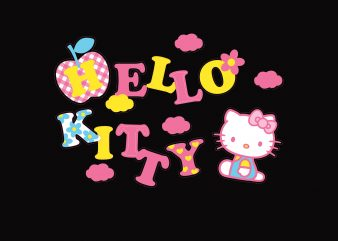 Hello Kitty buy t shirt design for commercial use
