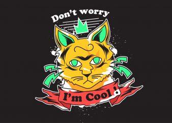 Cool Cat Vector T-shirt design