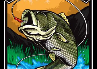 Fishing t shirt graphic design