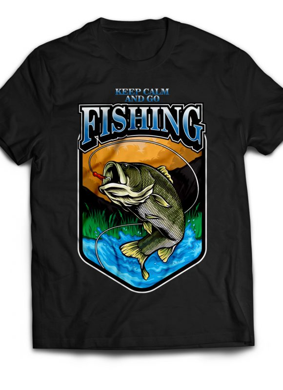 Fishing commercial use t shirt designs