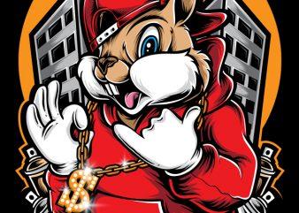 Funky Squirrel buy t shirt design artwork