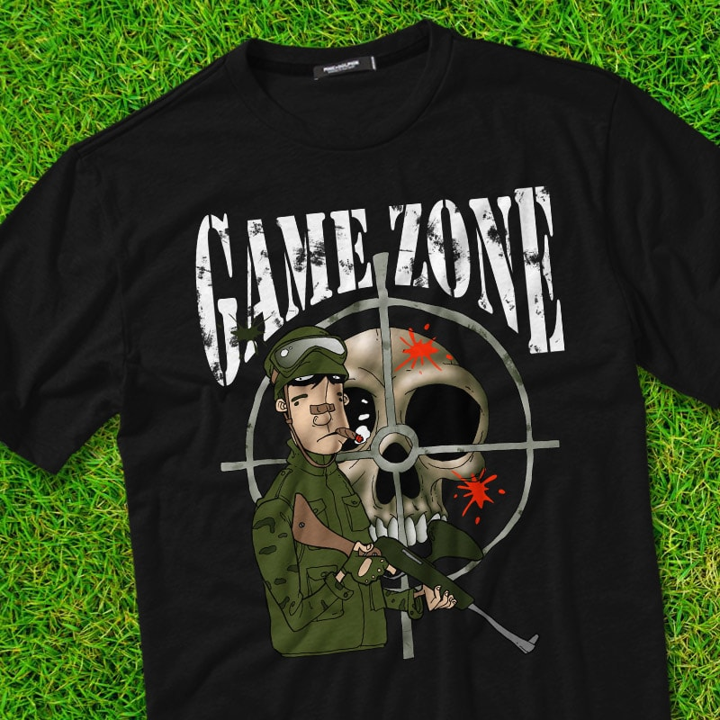 GAME ZONE t-shirt designs for merch by amazon