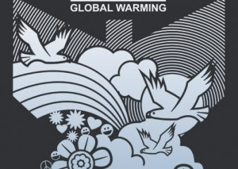 STOP GLOBAL WARMING t shirt design png