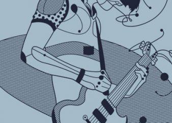 The Guitarist vector t shirt design artwork