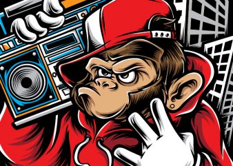 Hiphop Ape t shirt design for purchase