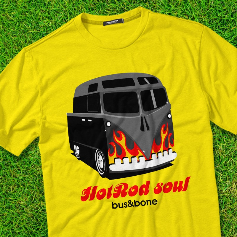 HOTROD SOUL vector t shirt design