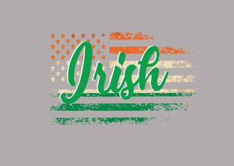 Irish tshirt design vector