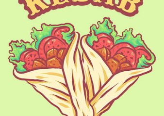 kebab Graphic t-shirt design