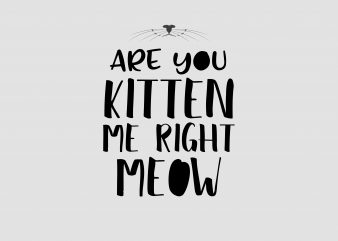Are You Kitten Me Right Meow t shirt vector