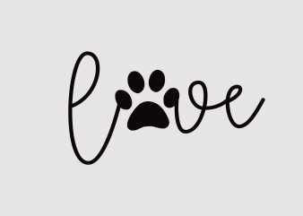 Dog Love t shirt design for sale
