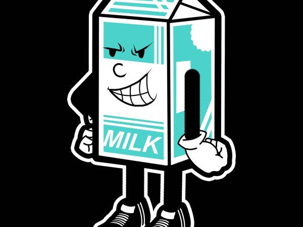 milk tshirt design