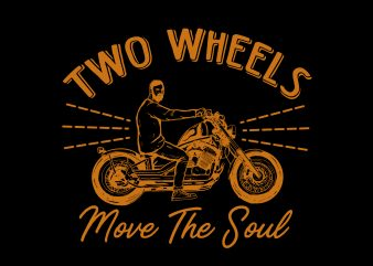 two wheels motorcycle retro t shirt design png