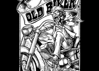 OLD BIKER t shirt design online