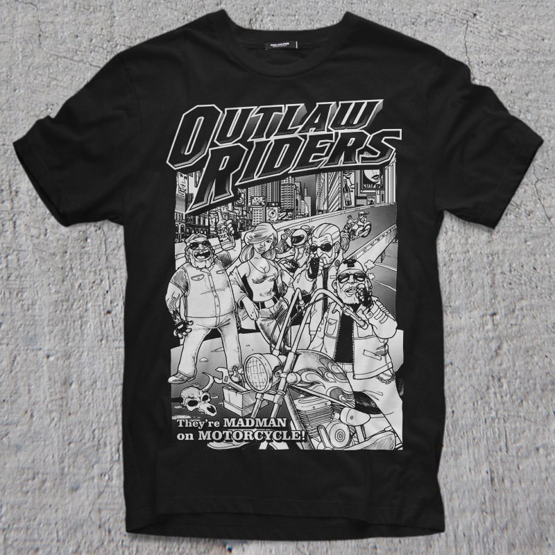 OUTLAW RIDERS t-shirt designs for merch by amazon
